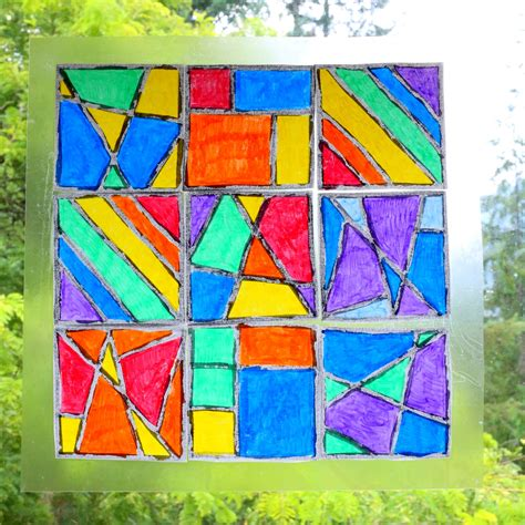 stained glass art  kwik stix  printable templates
