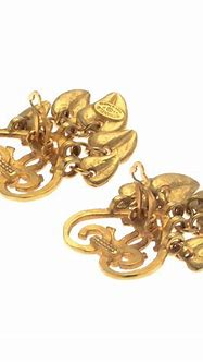 Chanel Heart CC Logo Clip-on Earings 18k gold plated on ...