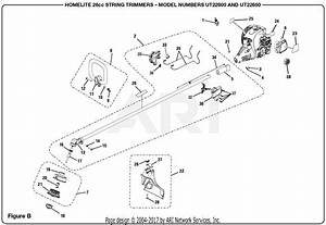 Homelite Ut22600 26cc String Trimmer Parts Diagram For
