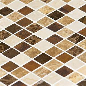 Vente Carrelage 95 : mosa que marbre mixcolor emparador marron indoor by capri ~ Edinachiropracticcenter.com Idées de Décoration