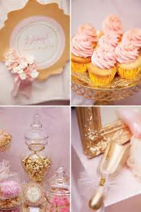 pink gold ballerina party 4th birthday hostess with