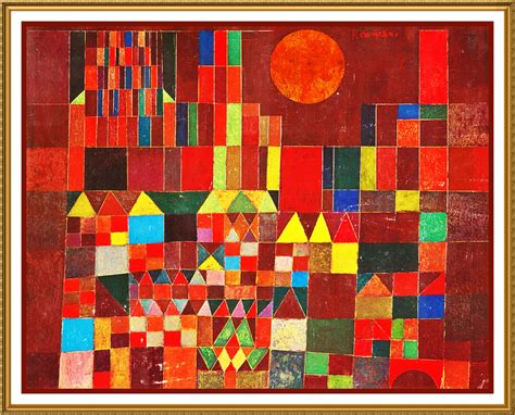 The Castle and Sun by Expressionist Artist Paul Klee ...