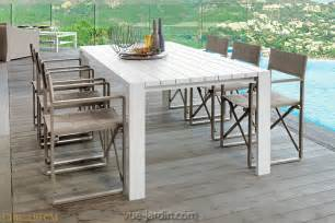 Table De Jardin Blanche by Grande Table De Jardin En Aluminium 8 10 Personnes 220 Ou
