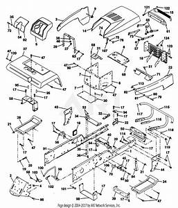 Poulan Pp22h50ka Tractor Parts Diagram For Chassis And