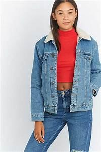 Veste En Jean Doublée Mouton Femme : women 39 s jackets coats winter bomber jackets urban outfitters urban outfitters ~ Melissatoandfro.com Idées de Décoration