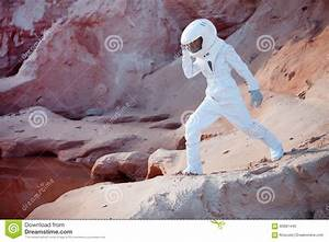 Water On Mars, Futuristic Astronaut, Image With Stock ...