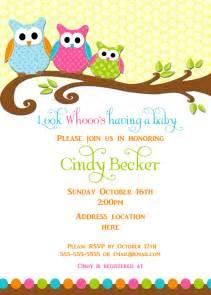 Owl Baby Shower Invitation Templates