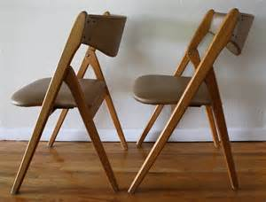 mid century modern coronet folding chairs picked vintage