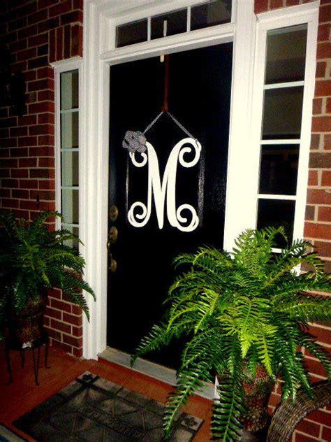 initial monogram front door wreath  housesensations  etsy