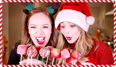 zoella hot chocolate christmas cake pops with tanya zoella youtube