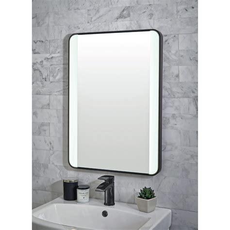 Bathroom Mirrors Black Frame by Shield Mono Black Framed Bathroom Mirror With Led Lighting