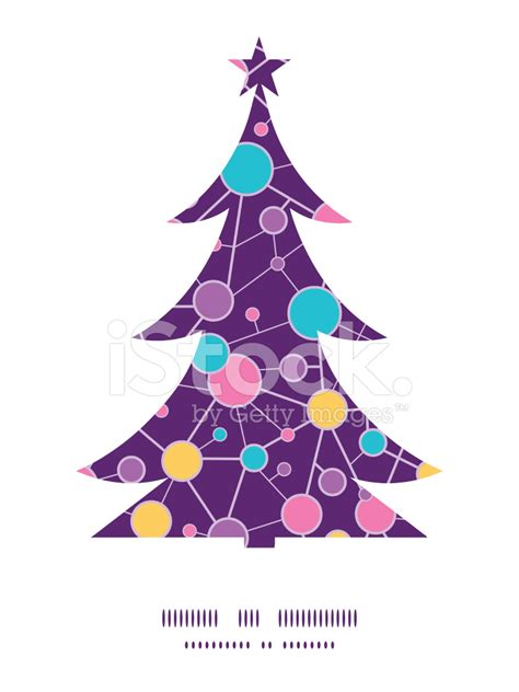 vector molecular structure christmas tree silhouette