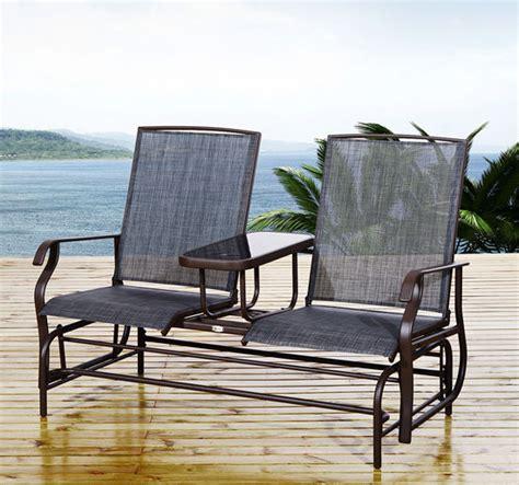 loveseat lawn chair patio glider rocking chair bench loveseat 2 person rocker