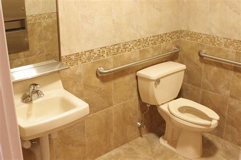 Handicap Bathroom Handrails. Hotel Handicap Bathroom With