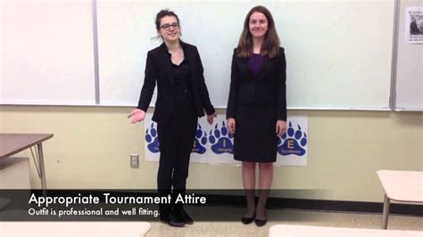 How to Dress at a Speech and Debate Tournament - YouTube