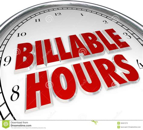 Billable Hours Time Keeping Clock Words Background Stock Photos  Image 35557273