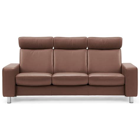 High Back Reclining Sofa by Stressless Arion 19 A20 Contemporary High Back Reclining
