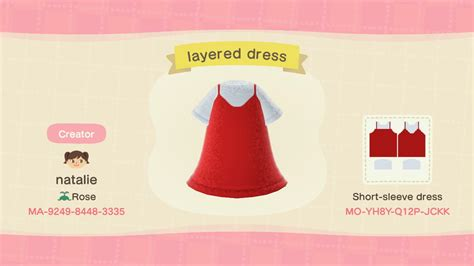 These are the individual codes ( layered dress - Nook QR - Custom Design IDs & QR codes for ...
