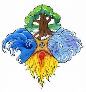 Tatouage 4 éléments : four elements fantasy 4 l ments quatre element 4 ~ Nature-et-papiers.com Idées de Décoration
