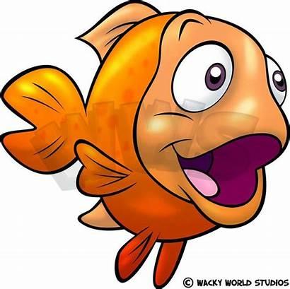Fish Clipart Gold Goldfish Funny Rocks Fishing