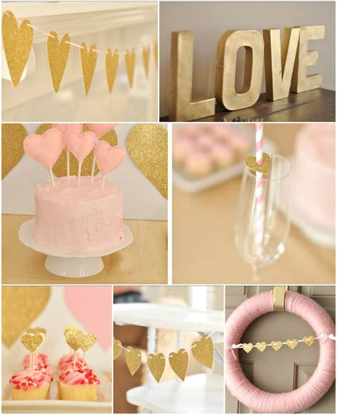 pink and gold birthday themes inspiration to reality pink gold and hearts