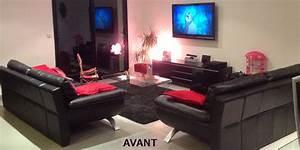 decoration salon noir et blanc rouge With deco salon rouge blanc noir