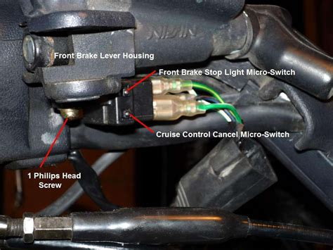 Honda Gl 1500 Brake Light Wiring by Front Gl1500 Brake Light Micro Switch Removal Steve