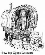 Gypsy Caravan Wagon Drawings Wagons Google Tattoos sketch template