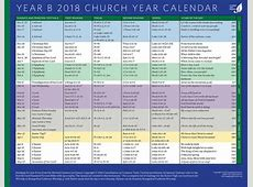 2018 Protestant Liturgical Calendar Calendar Template 2018