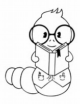 HD Wallpapers Coloring Page Book Worm
