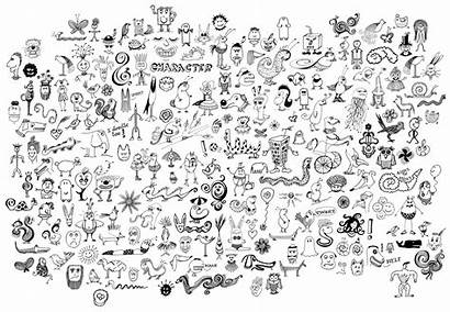 Doodles Random Easy Collected Doodle Pages Drawings
