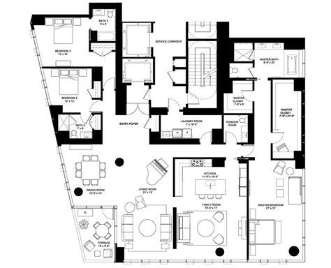 Chicago Mansion Floor Plan by 4 E Elm Floor Plans Chicago Il Luxury Condos