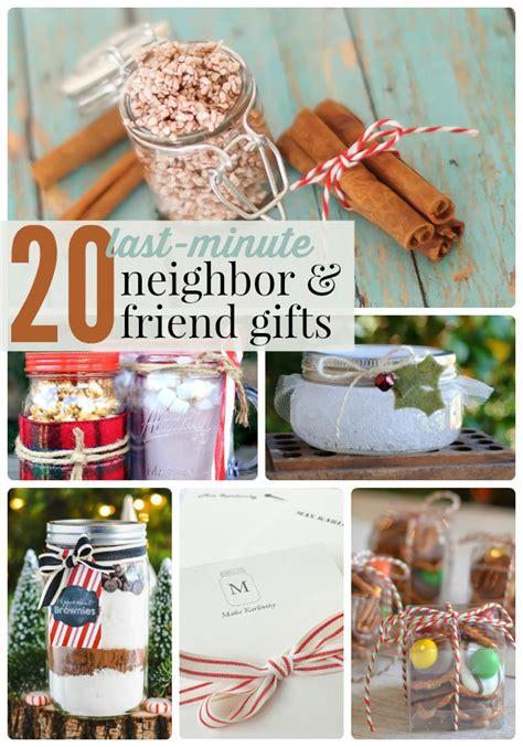 great ideas   minute neighbor  friend gifts