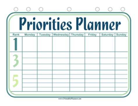 weekly priorities template costumepartyrun
