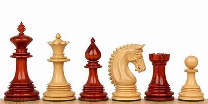 Chess King Padauk Pieces African Patton Staunton