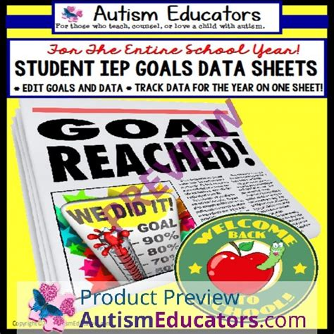 iep data tracking sheets  cards