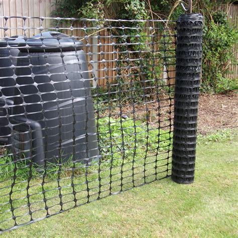 black plastic barrier mesh fence 50m rolls