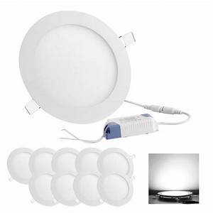 Round led recessed ceiling panel down light bulb w