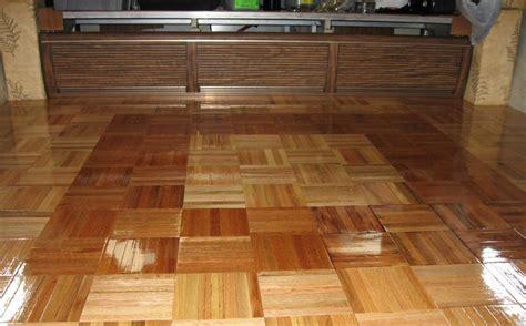 interlocking finished wood parquet tile flooring