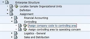 Sap Chart Of Accounts Structure Assign Company Code To Controlling Area Transaction Ox19