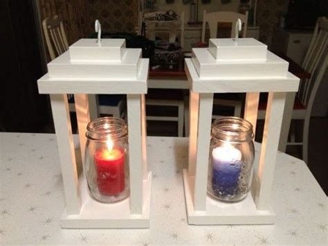 scrapwood lanterns    home projects  ana