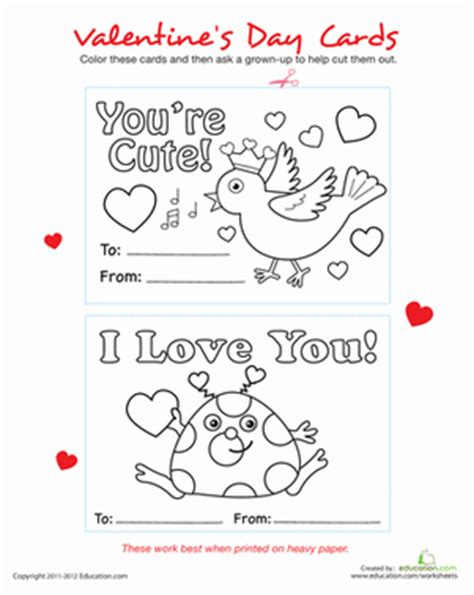 valentines day cards preschool printable cards worksheet education 334