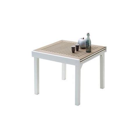 table de jardin carr 233 e extensible aluminium blanc et