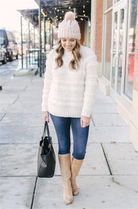 Cream Sweater Outfit | By Lauren M