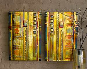 Amber leaf panels by mark ditzler art glass wall
