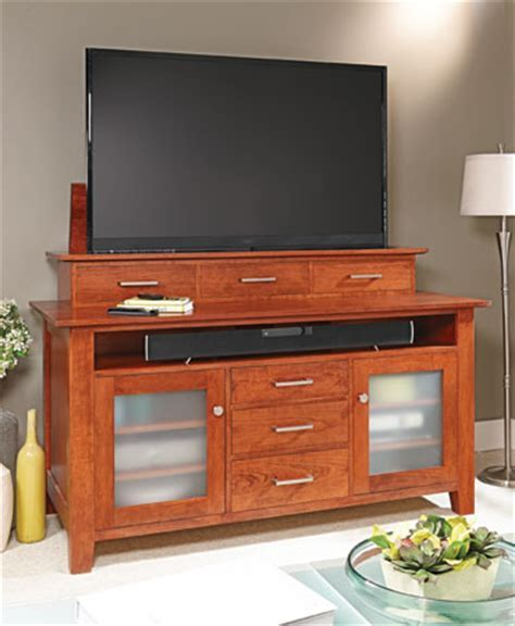 Flat Screen TV Lift Cabinet   Woodsmith Plans