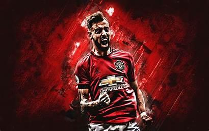 Bruno Fernandes Manchester United Portrait Background Footballer