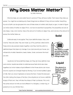 Why Does Matter Matter  Fill Online, Printable, Fillable, Blank Pdffiller