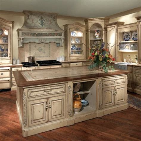 antique country kitchen tuscany kitchens style style blue and white 1266