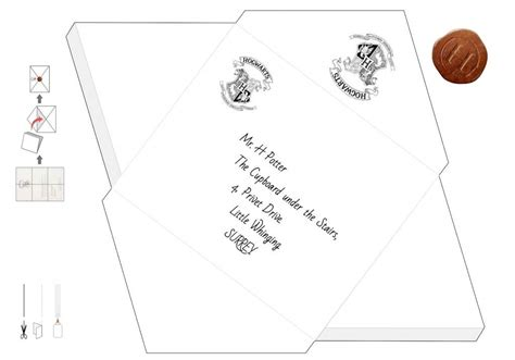 hogwarts letter envelope template printable